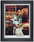 Football Collectibles:Photos, Joe Namath Signed Stephen Holland Lithograph. ...