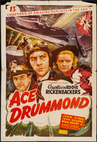 """Ace Drummond (Filmcraft, R-1940s). One Sheet (27"""" X 41""""). Serial"""