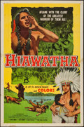 "Movie Posters:Adventure, Hiawatha (Allied Artists, 1952). One Sheet (27"" X 41""). Adventure....."