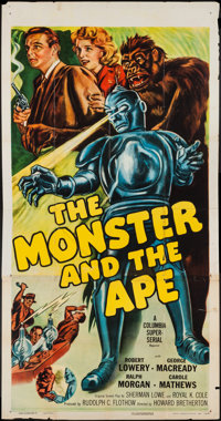 "The Monster and the Ape (Columbia, R-1956). Three Sheet (41"" X 79.5""). Serial"