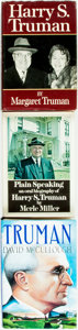 Books:Americana & American History, [Harry S. Truman]. Group of Three Books About Harry Truman. Variouspublishers and dates. First Editions. Publisher's bindin... (Total:3 Items)