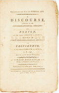 Books:Americana & American History, Simeon Doggett. Concerning the Way to Eternal Life. A DiscoursePreached to the Congregational Society in Norton, on the...