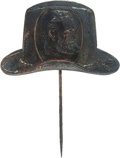 Political:Ferrotypes / Photo Badges (pre-1896), Ulysses S. Grant: Portrait in Hat Stickpin....
