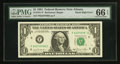 Error Notes:Miscellaneous Errors, Fr. 1911-F $1 1981 Federal Reserve Note. PMG Gem Uncirculated 66 EPQ.. ...