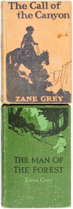 Books:Literature 1900-up, Zane Grey. The Man of the Forest [and:] The Call of theCanyon. New York: Harper & Brothers, 1920, 1924. Fir...(Total: 2 Items)