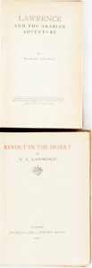 Books:Biography & Memoir, [T.E. Lawrence]. Group of Two Books. Includes: Revolt in theDesert. London: Jonathan Cape, 1927. First edition. [togeth...(Total: 2 Items)