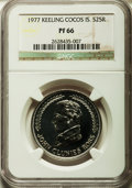 Keeling Cocos: British Territory Proof 25 Rupees 1977-PR66 NGC