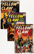 Silver Age (1956-1969):Mystery, The Yellow Claw #1, 3, and 4 Group (Atlas, 1956-57).... (Total: 3Comic Books)