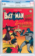 Golden Age (1938-1955):Superhero, Batman #62 (DC, 1950) CGC VG/FN 5.0 Off-white to white pages....
