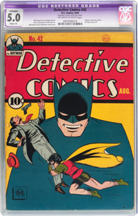 Detective Comics #42 (DC, 1940) CGC Apparent VG/FN 5.0 Slight (A) Off-white to white pages