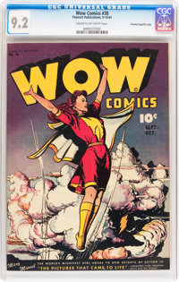 Wow Comics #38 Crowley Copy/File Copy (Fawcett Publications, 1945) CGC NM- 9.2 Cream to off-white pages