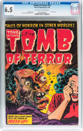 Golden Age (1938-1955):Horror, Tomb of Terror #15 (Harvey, 1954) CGC FN+ 6.5 Off-white to whitepages....