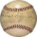 Autographs:Baseballs, 1925 Honus Wagner Single Signed Baseball....