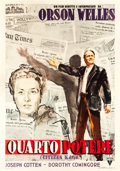 "Movie Posters:Drama, Citizen Kane (RKO, 1948). First Post-War Italian 4 - Foglio (55"" X78"").. ..."