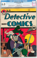 Golden Age (1938-1955):Superhero, Detective Comics #49 (DC, 1941) CGC FN 6.0 Off-white to white pages....