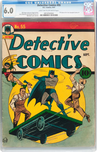 Detective Comics #55 (DC, 1941) CGC FN 6.0 Light tan to off-white pages