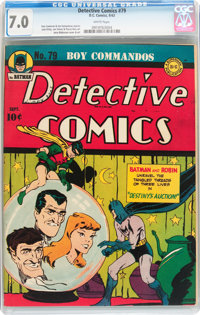 Detective Comics #79 (DC, 1943) CGC FN/VF 7.0 White pages