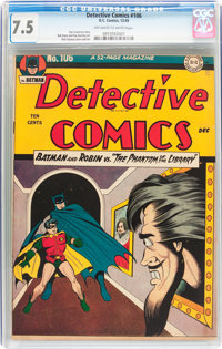 Detective Comics #106 (DC, 1945) CGC VF- 7.5 Off-white to white pages