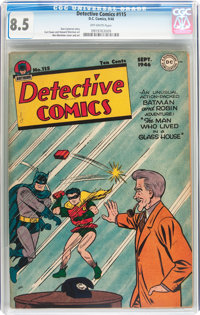 Detective Comics #115 (DC, 1946) CGC VF+ 8.5 Off-white pages