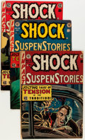 Golden Age (1938-1955):Horror, Shock SuspenStories #4 and 15-18 Group (EC, 1952-55) Condition:Average VG.... (Total: 5 Comic Books)