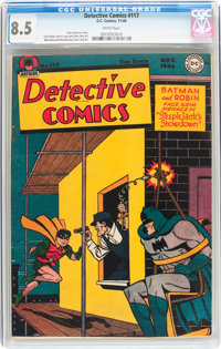 Detective Comics #117 (DC, 1946) CGC VF+ 8.5 White pages