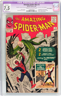 The Amazing Spider-Man #2 (Marvel, 1963) CGC Apparent VF- 7.5 Slight (A) Cream to off-white pages