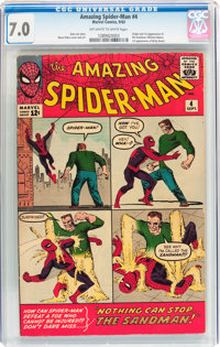 The Amazing Spider-Man #4 (Marvel, 1963) CGC FN/VF 7.0 Off-white to white pages