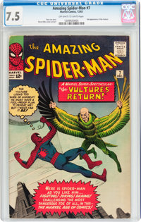 The Amazing Spider-Man #7 (Marvel, 1963) CGC VF- 7.5 Off-white to white pages