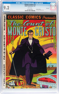 Classic Comics #3 The Count of Monte Cristo - Original Edition - Vancouver pedigree (Elliott Publishing, 1942) CGC NM- 9...