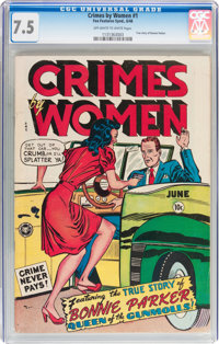 Crimes by Women #1 (Fox Features Syndicate, 1948) CGC VF- 7.5 Off-white to white pages