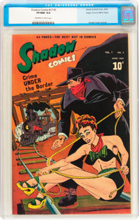Shadow Comics V7#3 Mile High pedigree (Street & Smith, 1947) CGC VF/NM 9.0 Off-white to white pages