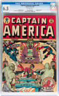 Golden Age (1938-1955):Superhero, Captain America Comics #35 (Timely, 1944) CGC FN+ 6.5 Off-white pages....