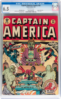 Captain America Comics #35 (Timely, 1944) CGC FN+ 6.5 Off-white pages