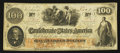 Confederate Notes:1862 Issues, T41 $100 1862 PF-10 Cr. 319A.. ...