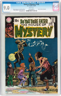 Bronze Age (1970-1979):Horror, House of Mystery #186 (DC, 1970) CGC VF/NM 9.0 White pages....