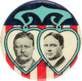Political:Small Miscellaneous (1896-present), Roosevelt & Johnson: A Rare and Colorful 1912 Jugate Celluloid. ...