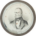 Political:Ferrotypes / Photo Badges (pre-1896), Henry Clay: A Scarce 1844 Campaign Pewter Rim....