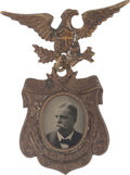 Political:Ferrotypes / Photo Badges (pre-1896), Winfield Scott Hancock: A Rare 1880 Ferrotype Campaign Badge inSuperb Condition....