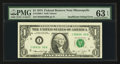 Error Notes:Ink Smears, Fr. 1908-I $1 1974 Federal Reserve Note. PMG Choice Uncirculated 63EPQ.. ...