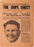 """Football Collectibles:Others, 1921 Green Bay Packers """"The Dope Sheet"""" Inaugural Issue...."""