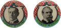 "Political:Pinback Buttons (1896-present), Woodrow Wilson and Charles Evans Hughes: A Stunning and Very RareMatched Pair of 7/8"" Buttons...."