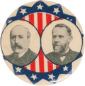 "Political:Pinback Buttons (1896-present), Parker & Davis: A Boldly Colorful and Most Unusual 1¼""Jugate...."