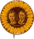 "Political:Pinback Buttons (1896-present), Landon & Knox: 1¼"" Sunflower Jugate. ..."