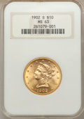 Liberty Eagles: , 1902-S $10 MS63 NGC. NGC Census: (972/746). PCGS Population (802/604). Mintage: 469,500. Numismedia Wsl. Price for problem ...