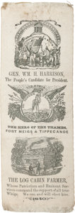 Political:Ribbons & Badges, William Henry Harrison: Graphic Virginia Ribbon....