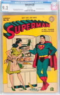 Golden Age (1938-1955):Superhero, Superman #36 (DC, 1945) CGC NM- 9.2 White pages....
