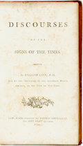 Books:Americana & American History, William Linn. Discourses on the Signs of the Times. NewYork: Thomas Greenleaf, 1794. First edition. Octavo. Con...