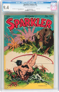 Golden Age (1938-1955):Adventure, Sparkler Comics #34 Rockford pedigree (United Features Syndicate, 1944) CGC NM 9.4 Cream to off-white pages....