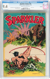 Sparkler Comics #34 Rockford pedigree (United Features Syndicate, 1944) CGC NM 9.4 Cream to off-white pages