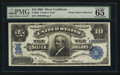 Large Size:Silver Certificates, Fr. 302 $10 1908 Silver Certificate PMG Gem Uncirculated 65 EPQ.....